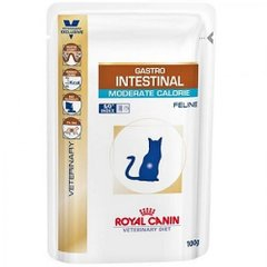 Фото: Консерва GASTRO-INTESTINAL MODERATE CALORIE FELINE ROYAL CANIN Pouches 0,1кг